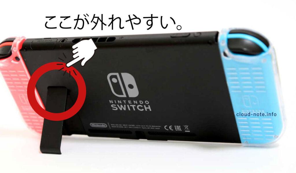 Nintendo Switch(ニンテンドースイッチ)の後ろ側