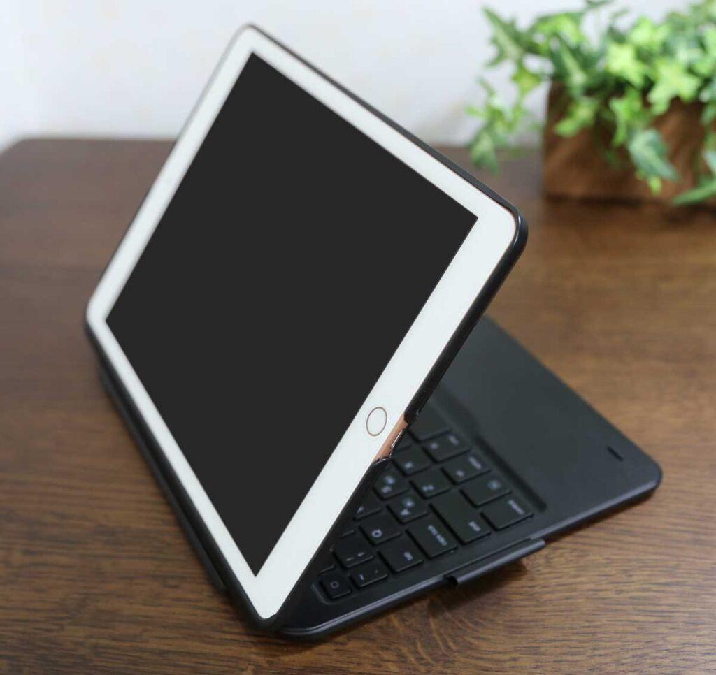 ipad 第7世代 キーボード bluetooth iPad 10.2 キーボード ケース第7世代2019モデル Bluetoothキーボードカバー343 DIY/七色バックライト付き オートスリープ機能 ペンシルホルダー付き ワイヤレス 一体型脱着式スマート軽量ケースキーボード [ iPad 10.2/iPad Air3/Pro 10.5(2017)兼用] iPadを180度回転して装着
