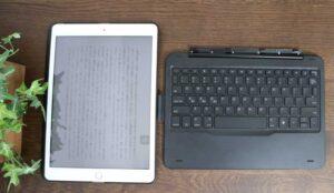iPad 10.2 キーボード ケース第7世代2019モデル Bluetoothキーボードカバー343 DIY/七色バックライト付き オートスリープ機能 ペンシルホルダー付き ワイヤレス 一体型脱着式スマート軽量ケースキーボード [ iPad 10.2/iPad Air3/Pro 10.5(2017)兼用] キーボードから外して縦置きで読書