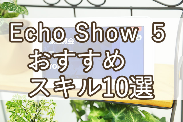 Amazon Echo Show 5 おすすめスキル10選