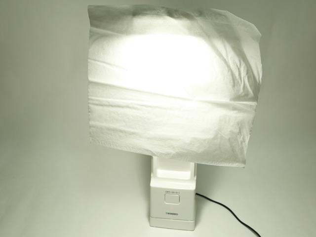 ティッシュペーパーを1枚貼って柔らかい光を演出(本の撮影のコツ)
