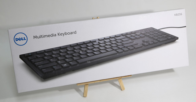 dell wired キーボード kb216 ブラック梱包-表