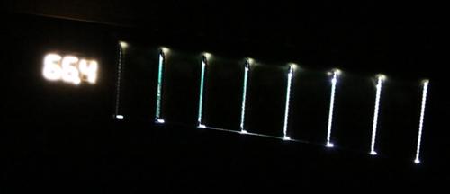スタンディングデスク「FlexiSpot E6シリーズ」のコントローラーのLEDバックライト