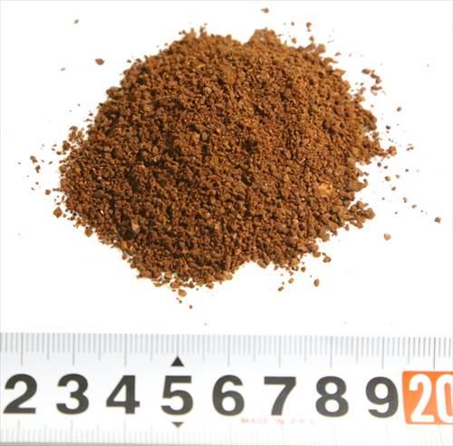 25秒間粉砕したコーヒー豆の様子
