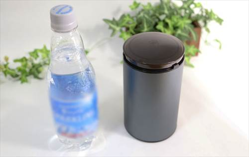 ペットボトルより一回り大きいほどのサイズ