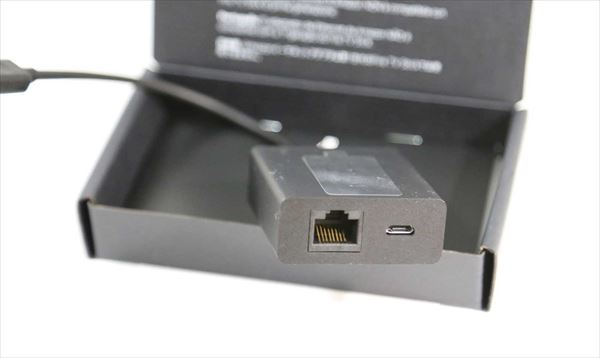 イーサーネットアダプターにLANケーブルを接続する