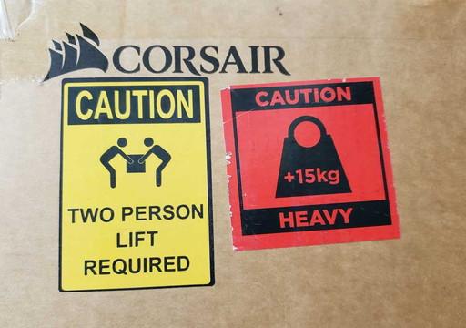 運搬は二人で運ぶように|CORSAIR(コルセア)社製「T3 RUSH」ゲーミングチェアの組み立て